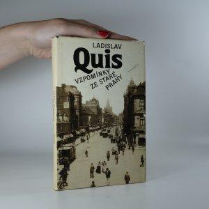 náhled knihy - Vzpomínky ze staré Prahy