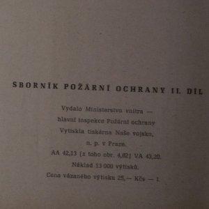 antikvární kniha Sborník požární ochrany II., 1966
