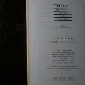 antikvární kniha Marie Majerová, 1986