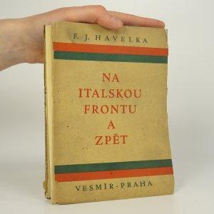 náhled knihy - Na italskou frontu a zpět
