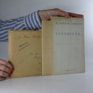 náhled knihy - Vzpomínám... (Obsahuje přepisy nekrologu z Lidové demokracie a dopisů matky A. Masarykové)