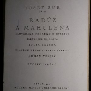 antikvární kniha Radúz a Mahulena Radúz a Mahulena slovenská pohádka o čtyřech jednáních : op. 13, 1945