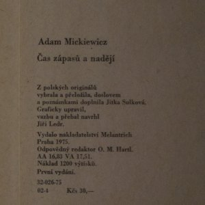 antikvární kniha Čas zápasů a nadějí, 1975