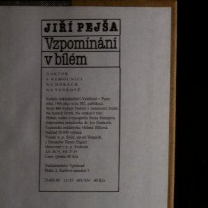 antikvární kniha Vzpomínání v bílém, 1988