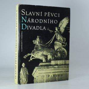náhled knihy - Slavní pěvci Národního divadla