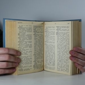 antikvární kniha Anglicko-český a česko-anglický slovník, 1971