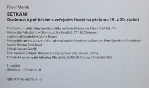 antikvární kniha Setkání : osobnost v politickém a veřejném životě na přelomu 19. a 20. století, 2010