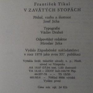 antikvární kniha V zavátých stopách, 1978