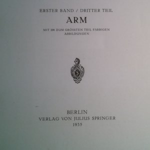 antikvární kniha Praktische Anatomie: Arm, 1935