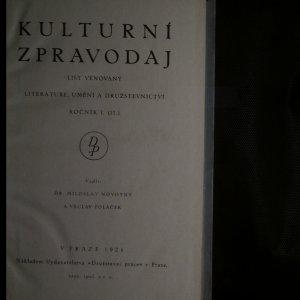 antikvární kniha Kulturní zpravodaj, ročník I. (II.), 1924