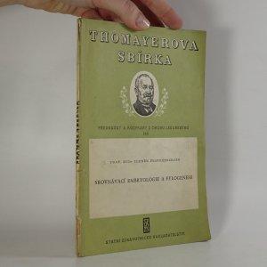 náhled knihy - Srovnávací embryologie a fylogenese