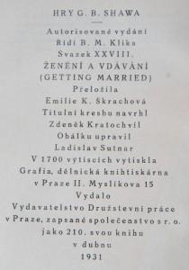 antikvární kniha Ženění a vdávání, 1931
