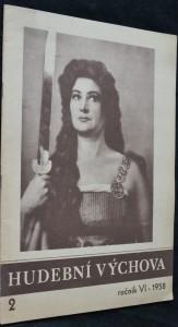 náhled knihy - Hudební výchova, roč. VI, 1958, č. 2