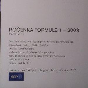 antikvární kniha Ročenka Formule 1, 2003