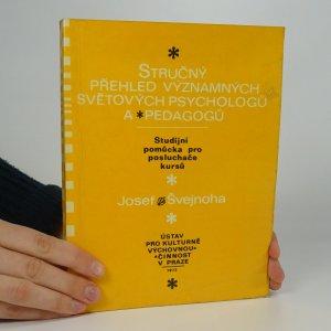 náhled knihy - Stručný přehled významných světových psychologů a pedagogů