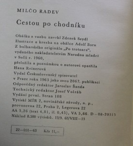 antikvární kniha Cestou po chodníku, 1963