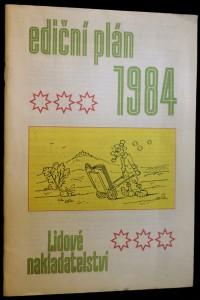 náhled knihy - Ediční plán 1984 Lidové nakladatelství
