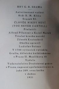 antikvární kniha Člověk nikdy neví, 1931