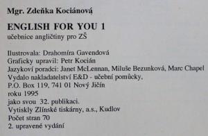 antikvární kniha English for You, 1995