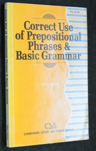 náhled knihy - Correct Use of Prepositional Phrases and Basic Grammar