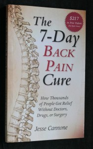 náhled knihy - The 7- Day back pain cure
