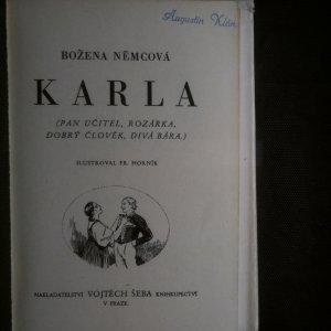antikvární kniha Karla. Pan učitel. Rozárka. Dobrý člověk. Divá Bára., 1939