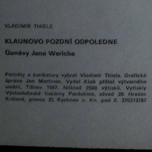 antikvární kniha Klaunovo pozdní odpoledne. Úsměvy Jana Wericha, 1987