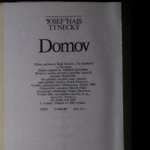 antikvární kniha Domov, 1980