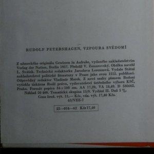 antikvární kniha Vzpoura svědomí, 1962