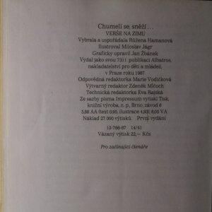 antikvární kniha Chumelí se, sněží : verše na zimu, 1987