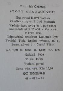antikvární kniha Stopy statečných, 1974