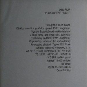 antikvární kniha Poskvrněné početí, 1990