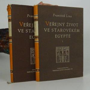 náhled knihy - Veřejný život ve starověkém Egyptě I.+II.