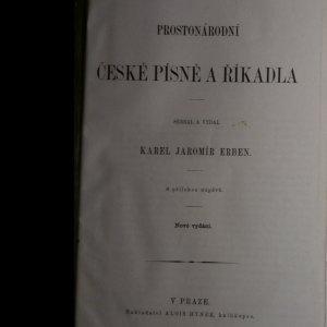 antikvární kniha Prostonárodní české písně a říkadla, neuveden