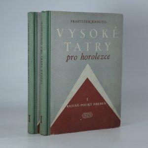 náhled knihy - Vysoké Tatry pro horolezce (I.-II. díl, 2 svazky)