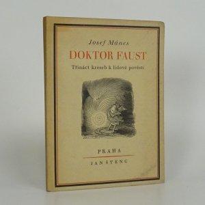 náhled knihy - Doktor Faust. Třináct kreseb k lidové pověsti