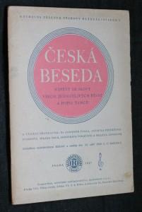 náhled knihy - Česká beseda nápěvy se slovy všech jednotlivých písní a popis tanců