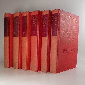 antikvární kniha Dějiny druhé světové války 1939-1945. Díl I - XII. (12 svazků) Nekompletní (viz poznámka), 1977-1984