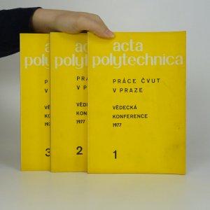 náhled knihy - Acta polytechnica. Práce ČVUT v Praze. 1.-3. díl. (3 díly ve 3 svazcích).