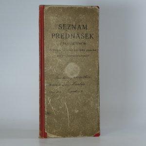 náhled knihy - Seznam přednášek (Index lectionum)