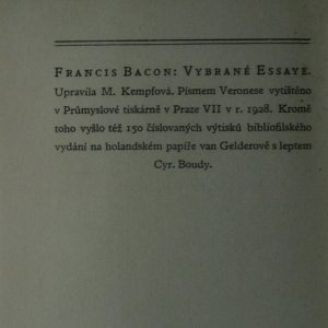antikvární kniha Vybrané essaye, 1928