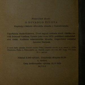 antikvární kniha O divadlo života, 1959