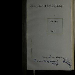 antikvární kniha Zelené víno, 1960