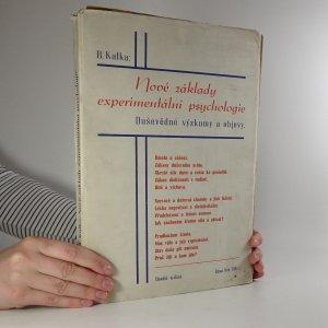 náhled knihy - Nové základy experimentální psychologie. Duševědné výzkumy a objevy