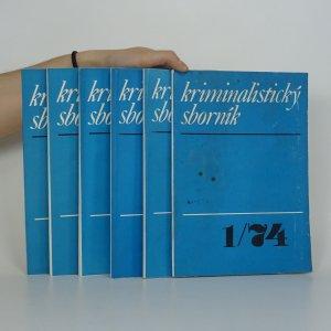 náhled knihy - Kriminalistický sborník. Ročník XVIII. (Číslo 1-5 a č. 7)