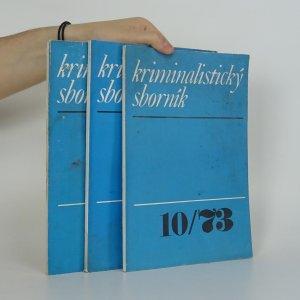 náhled knihy - Kriminalistický sborník. Ročník XVII. (Číslo 10-12)