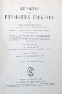 antikvární kniha Grundzüge der physischen erdkunde , 1930