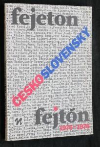 náhled knihy - Československý fejeton-fejtón 1975-1976