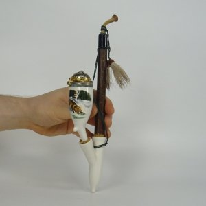 náhled knihy - Dýmka, fajka krakonoška s motivem lišky, nekouřená