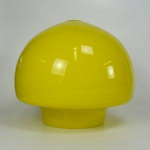 náhled knihy - Retro stínítko ze žlutého skla na lustr, 70. léta